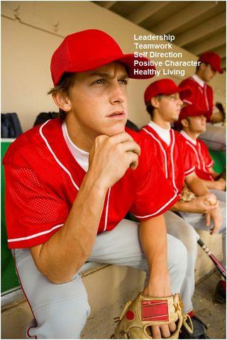 Positive Sports Baseball Red Uniform Banner