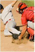 Baseball at the plate