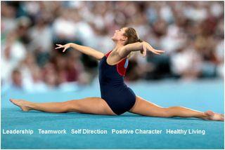 Positive Sports Female Gymnast Banner