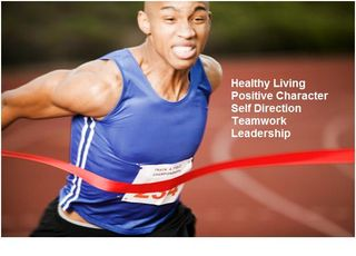 Positive Sports Track Breaking Ribbon