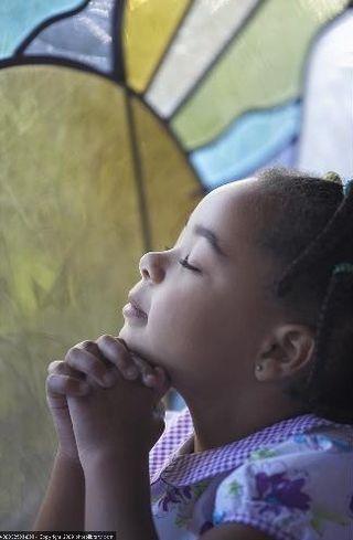 Girl at church